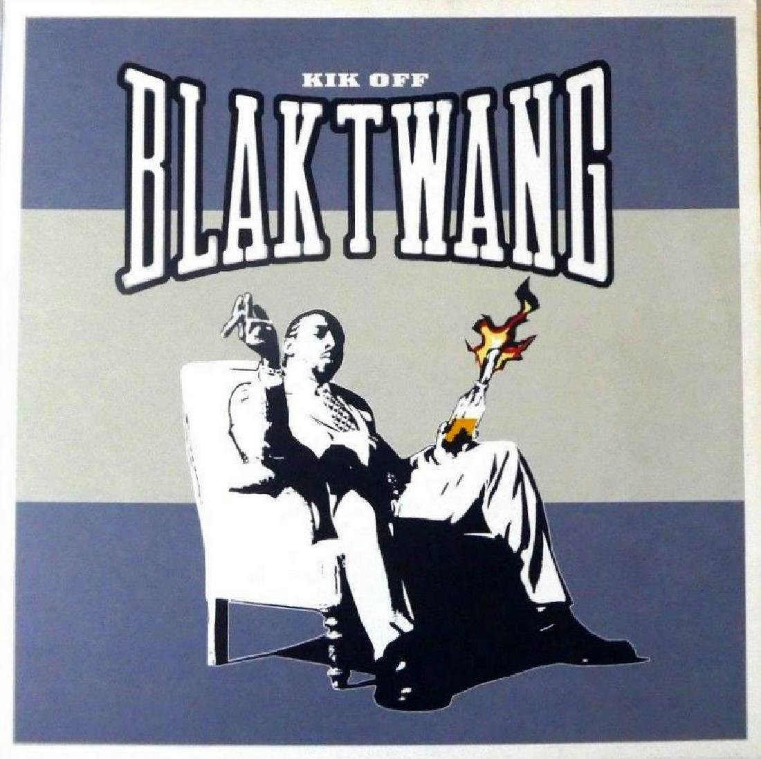 RARE BANKSY ORIGINAL Cover Art Blak Twang Kik Off 2002