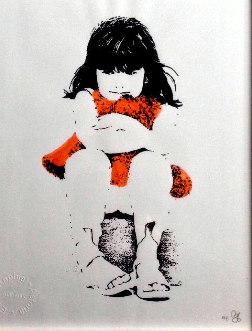 Emo Raphiel Astoria ,TEDDY GIRL ,signed original