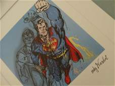 ANDY WARHOL SUPERMAN SIGNED NUMBERED