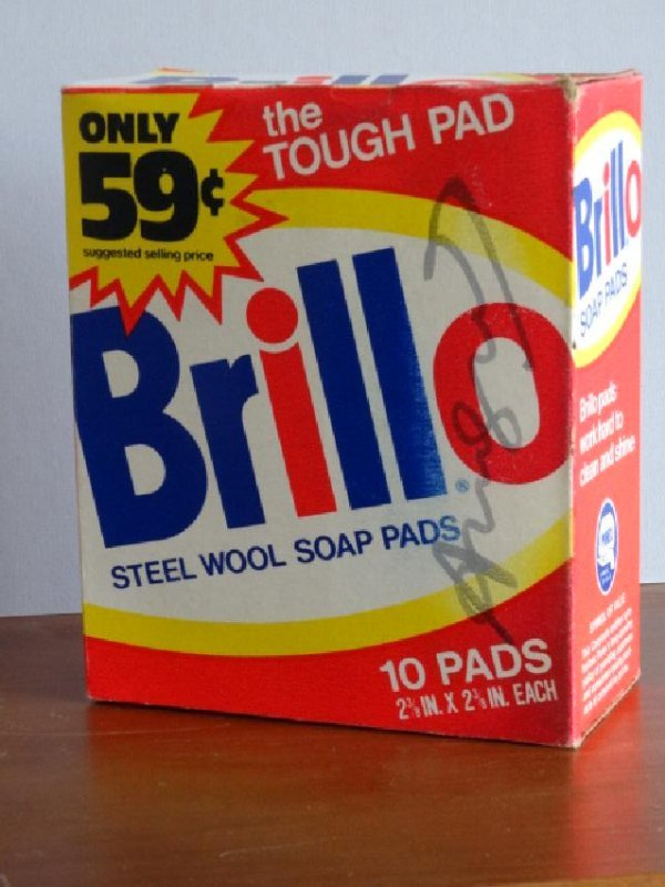ANDY WARHOL HAND SIGNED, BRILLO  SOAP
