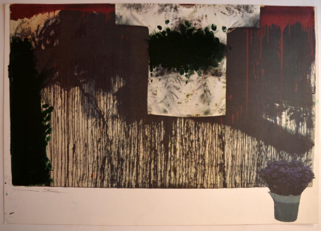 Hermann Nitsch, acrylic on color lithograph