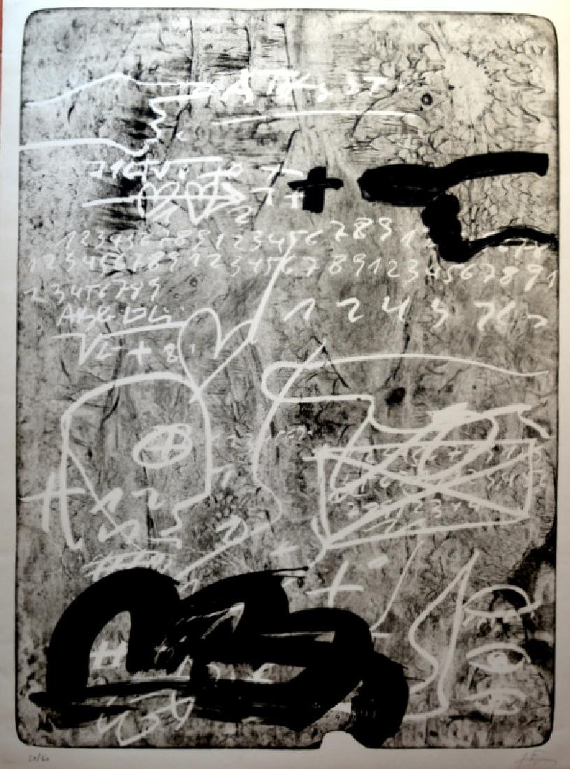 Antoni Tapies, lithograph 108 x 80 cm, signed by hand