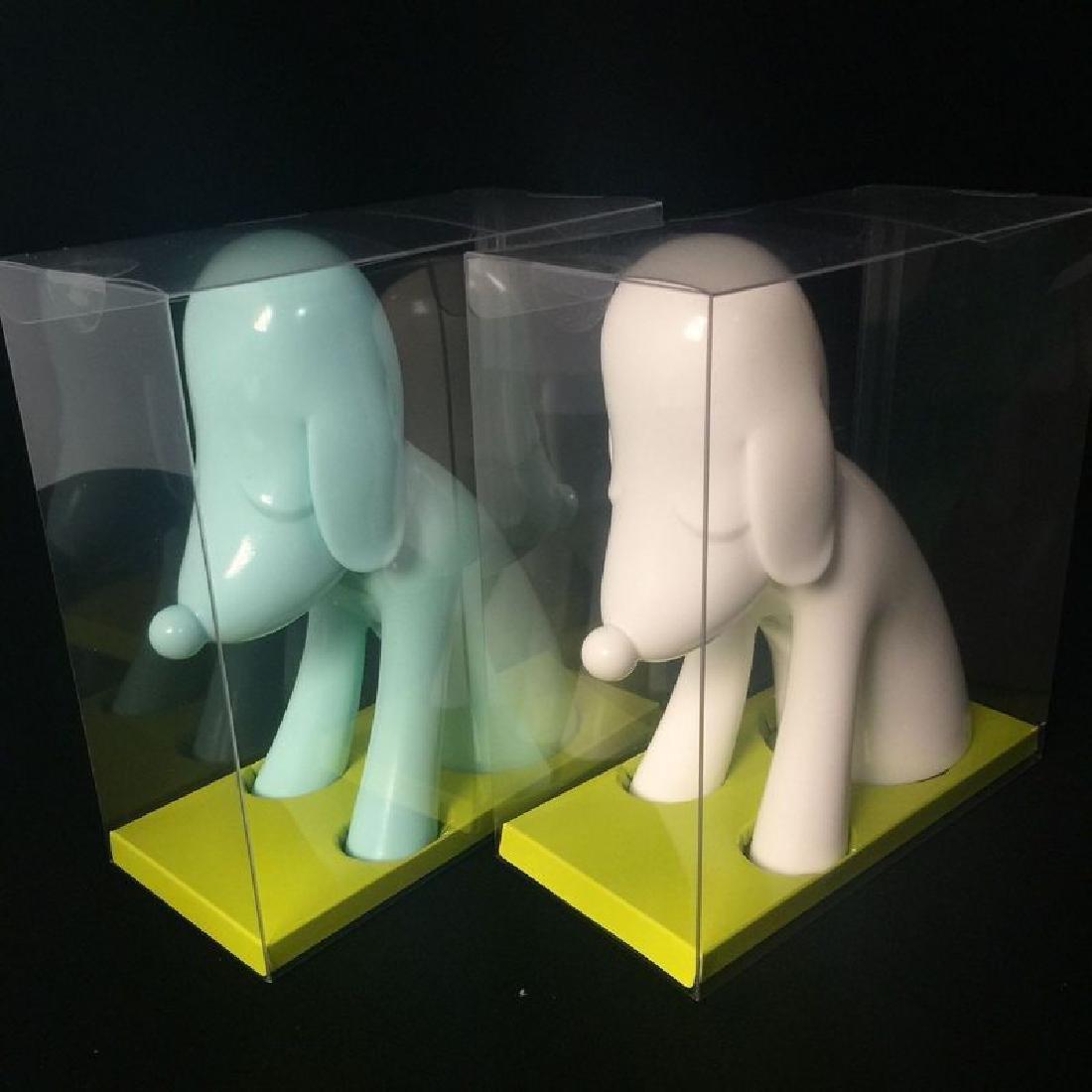 Yoshitomo Nara,Set 2 color Aomori dog Piggy bank  white