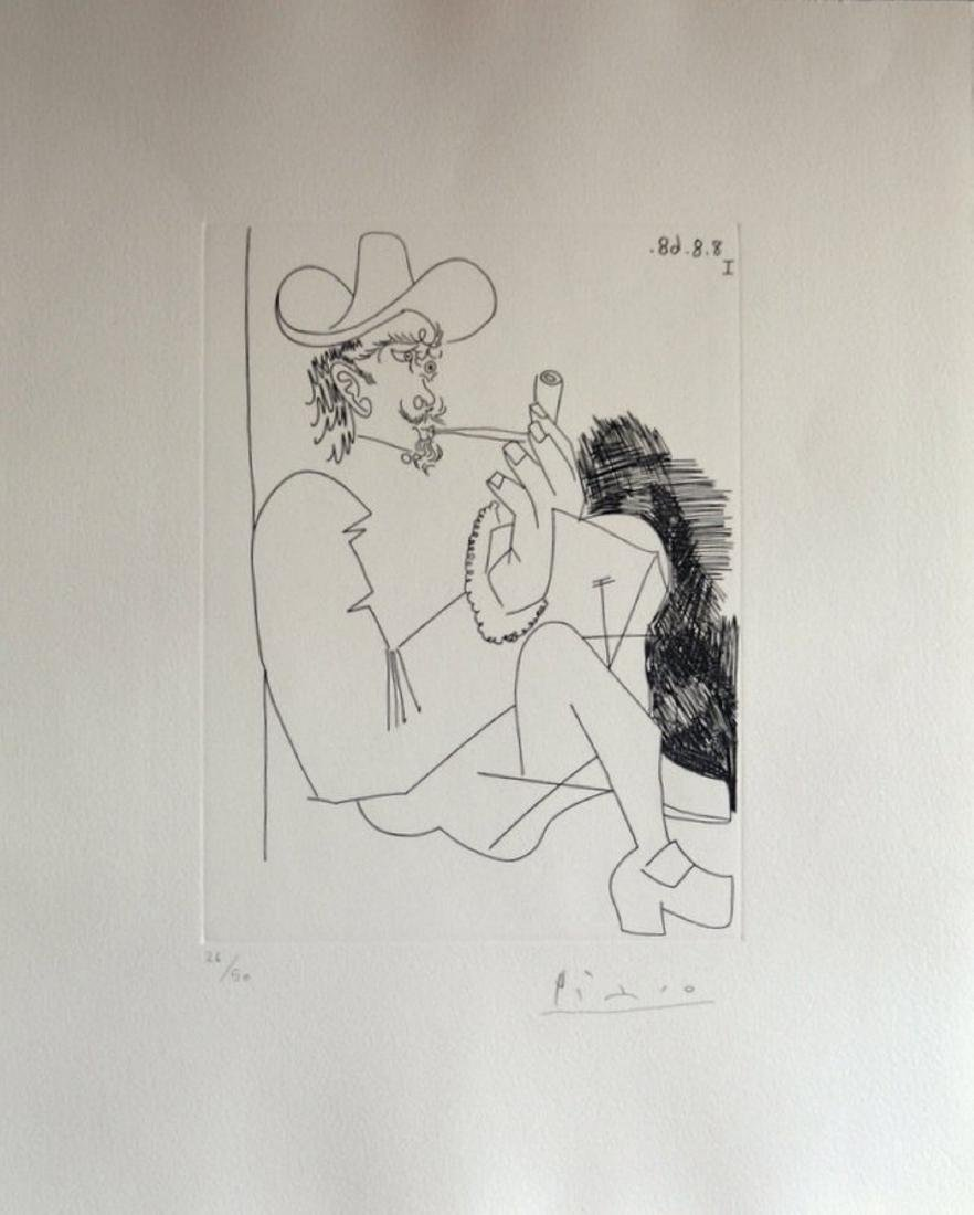 Pablo Picasso, Certified and Hand Signed, etching, COA