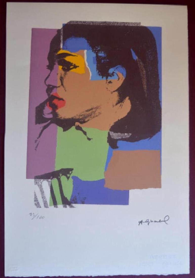 Andy Warhol Lithograph. Arches France Dry stamp