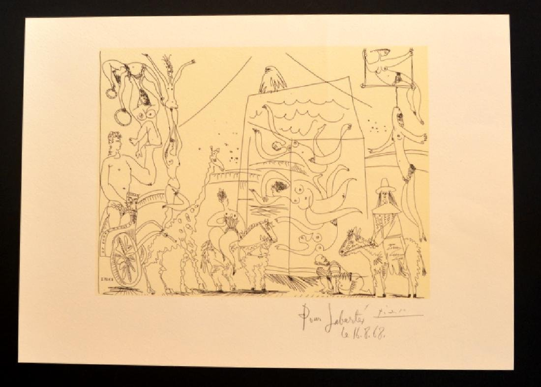 Pablo Picasso, Lithograph signed on the plate.