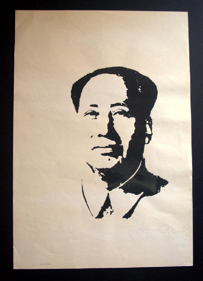 Andy Warhol Old Silk-screen - Hand signed in pencil-