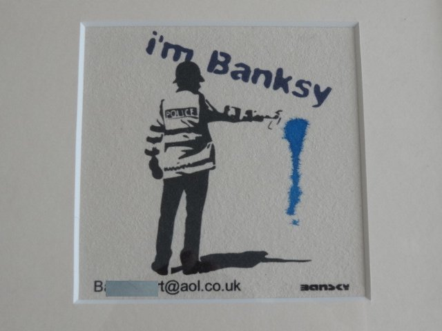 BANKSY COP, BANKSY WALLED OFF HOTEL INTEREST