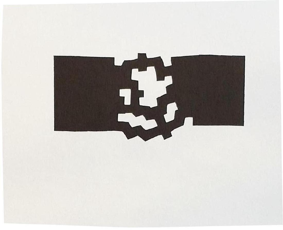 EDUARDO CHILLIDA - Original lithograph embroidered