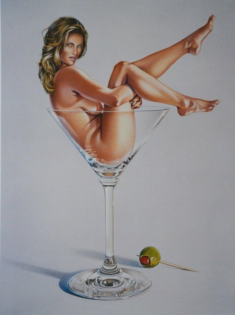 Mel Ramos Kunstdruck Art Print XXL Martini Miss 1993