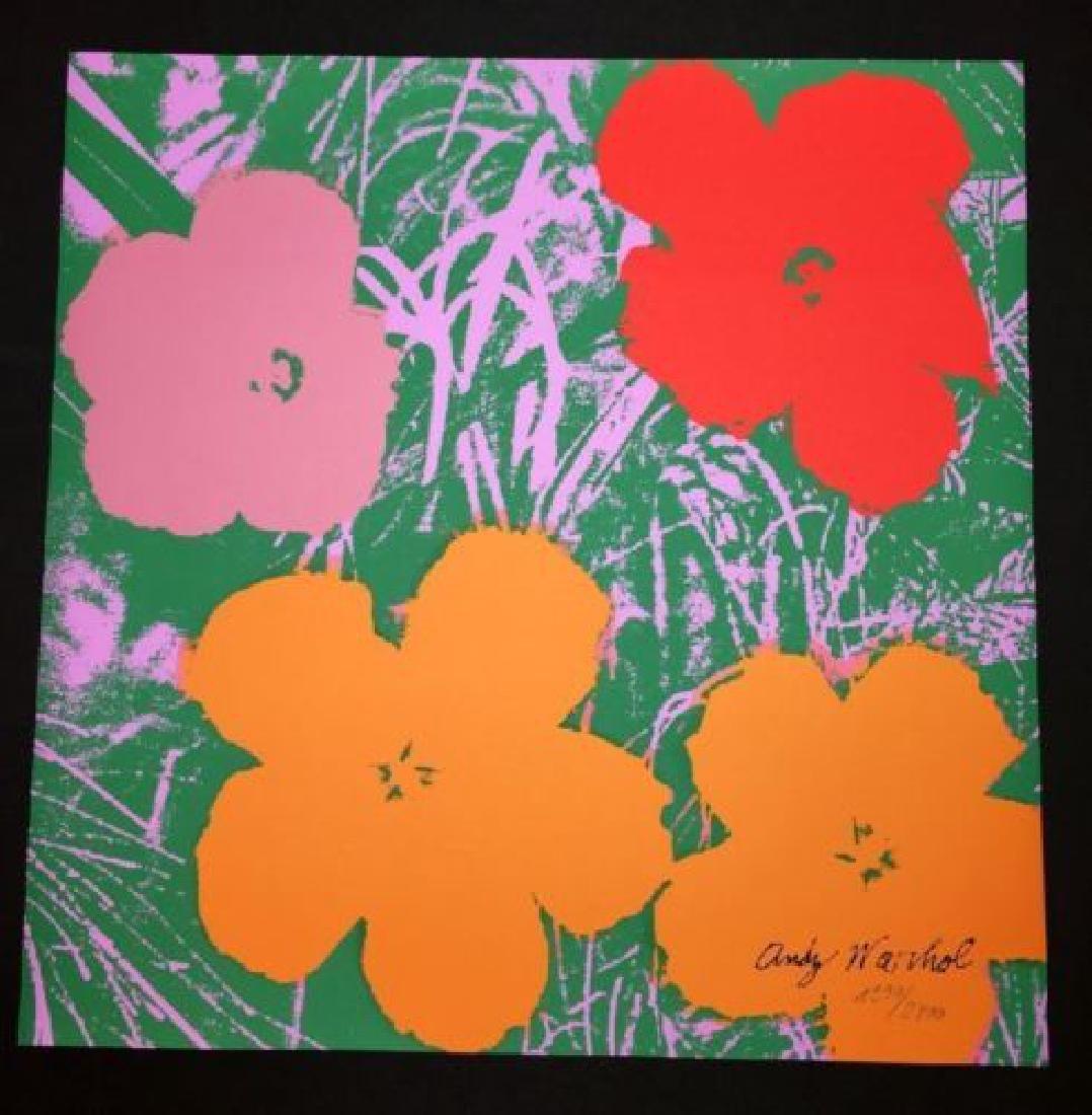 "Andy Warhol, ""POPPY FLOWERS - 1967 # 01, LIMITED"