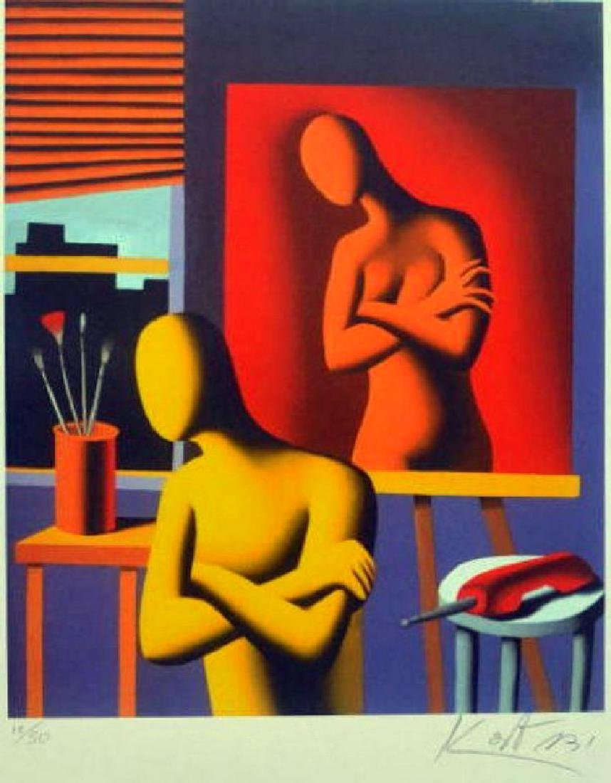 Mark Kostabi,Lithograph, Size : 50 x 65 cm,hand signed