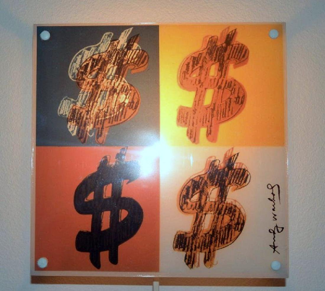 Light fixture, Signed Andy Warhol