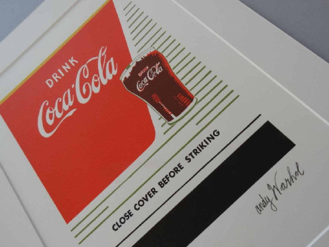 ANDY WARHOL, COCA COLA SIGNED, NUMBERED