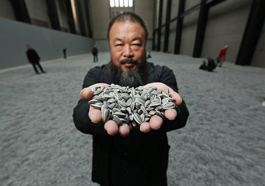 Ai Weiwei - 34 hand-painted, porcelain sunflower