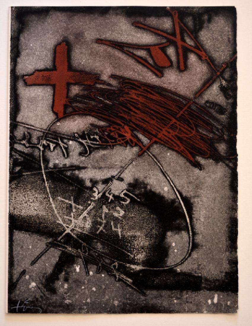 Antoni Tapies Hand-signed engraving
