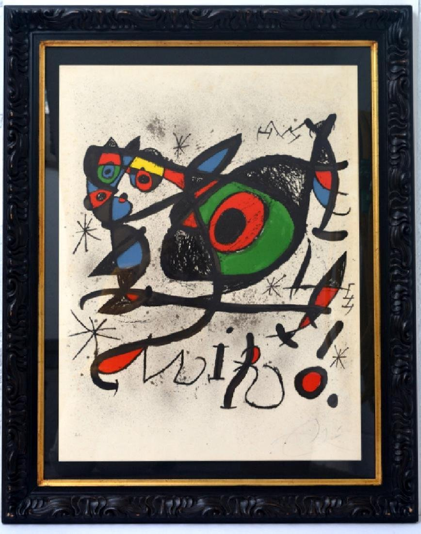 Joan Miro, lithograph CERTIFIED BY THE MIRO FOUNDATION,