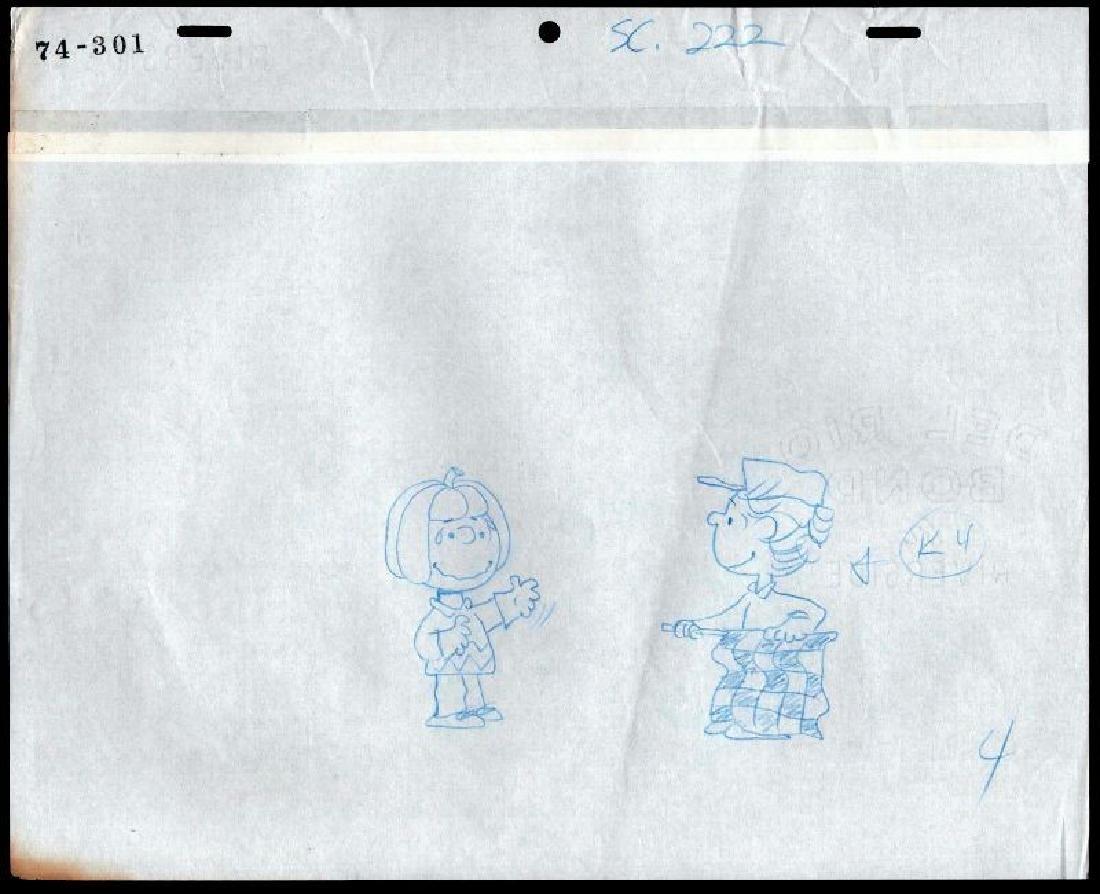 Charles Schultz . Peanuts Charlie Brown. COA. Original