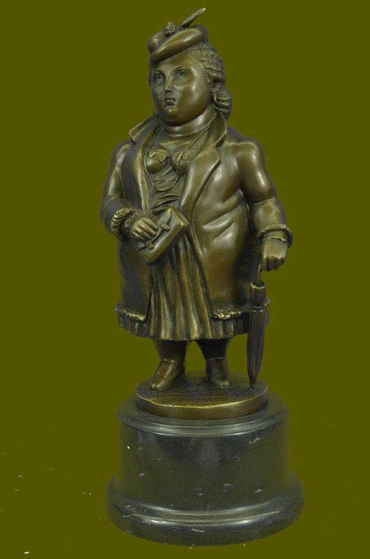 Botero Abstract Art Female Bronze Sculpture Woman