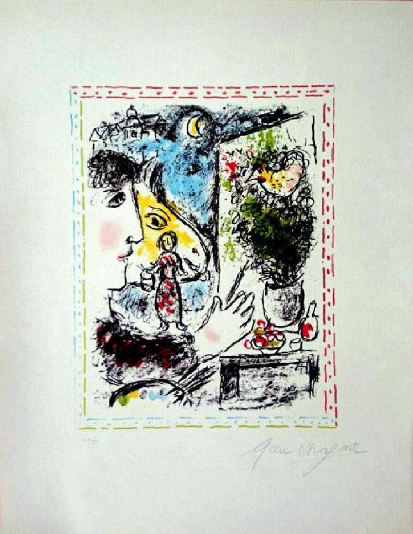 Marc Chagall , Lithograph, SIGNED AND HAND NUMBERED