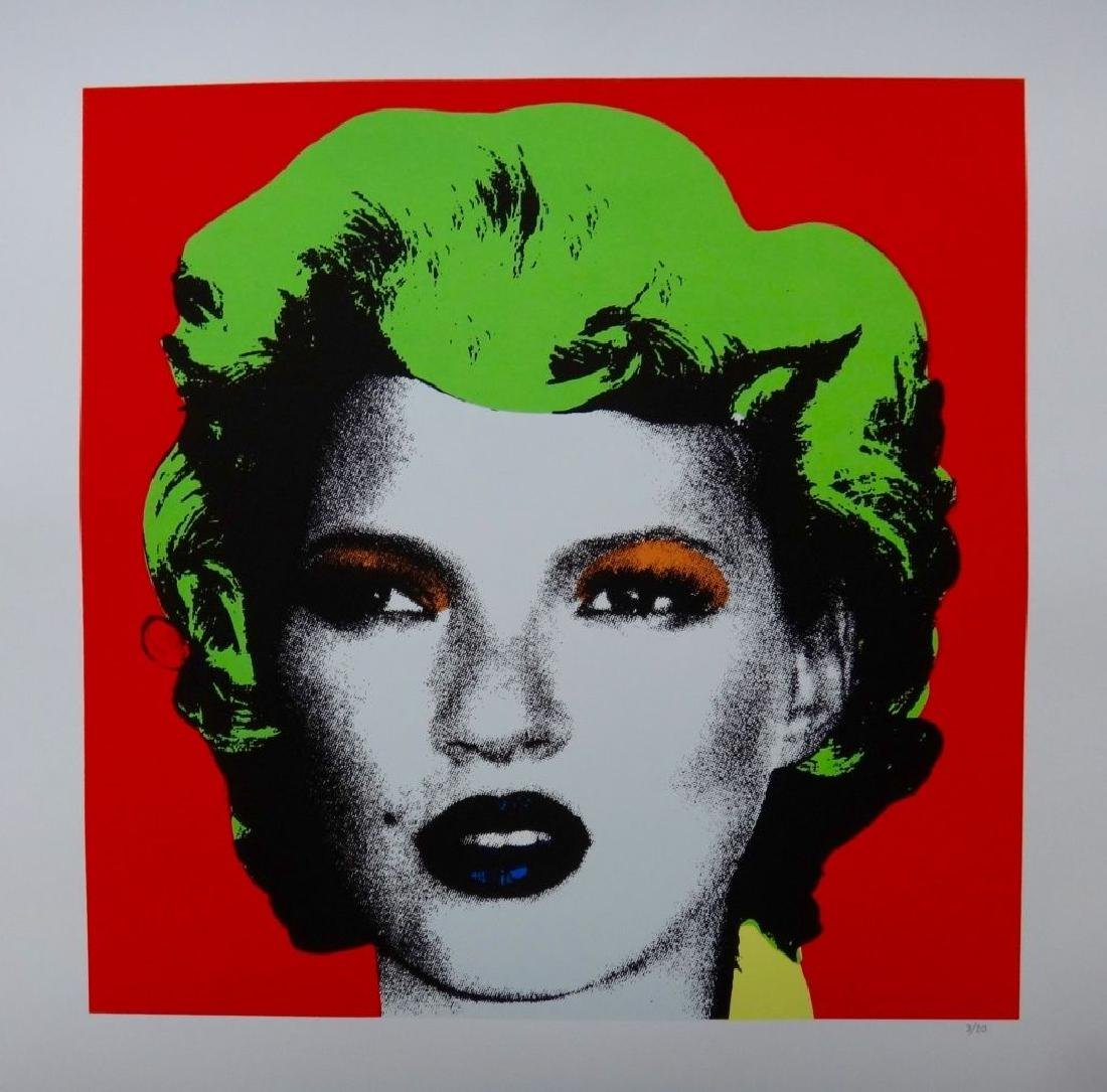 Banksy - Kate Moss - screen print serigraph original