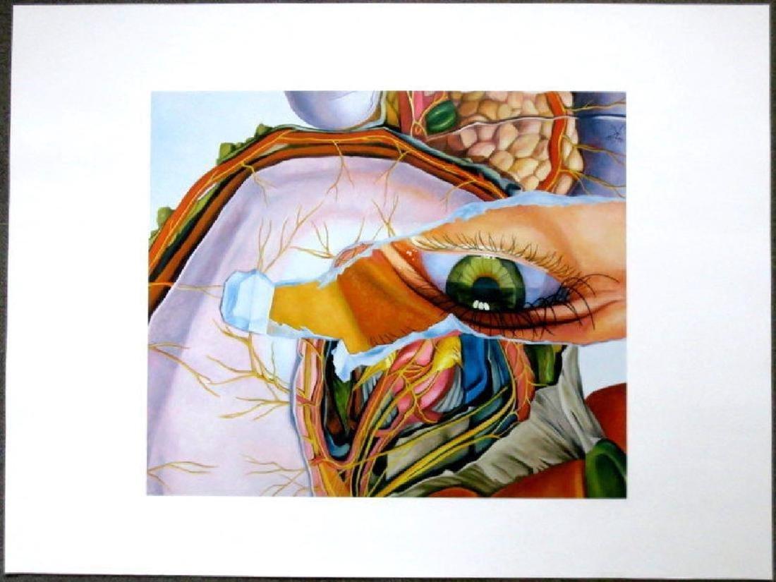 """Kothe Fritz """"Augenkorper"""", signed, 1999, orig. Color"""