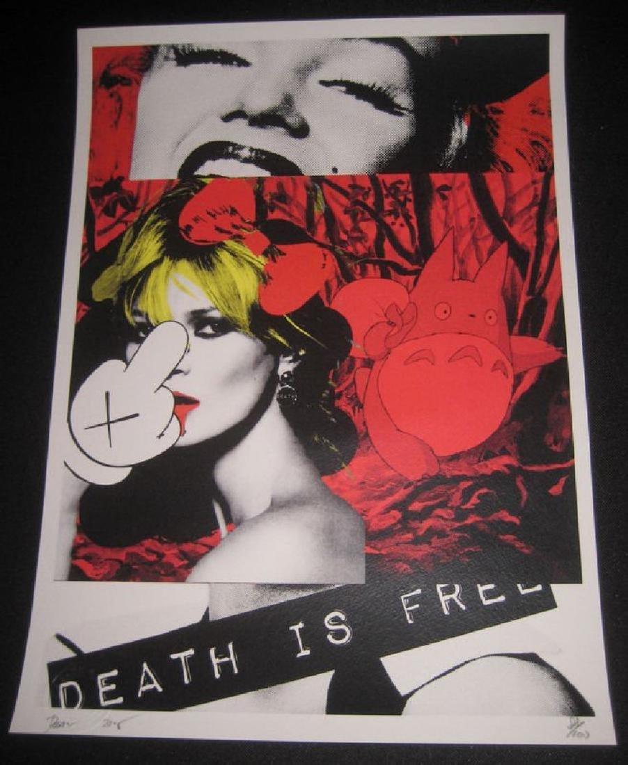 Death NYC Ltd Ed 45x32cm LARGE Signed Graffiti Pop Art