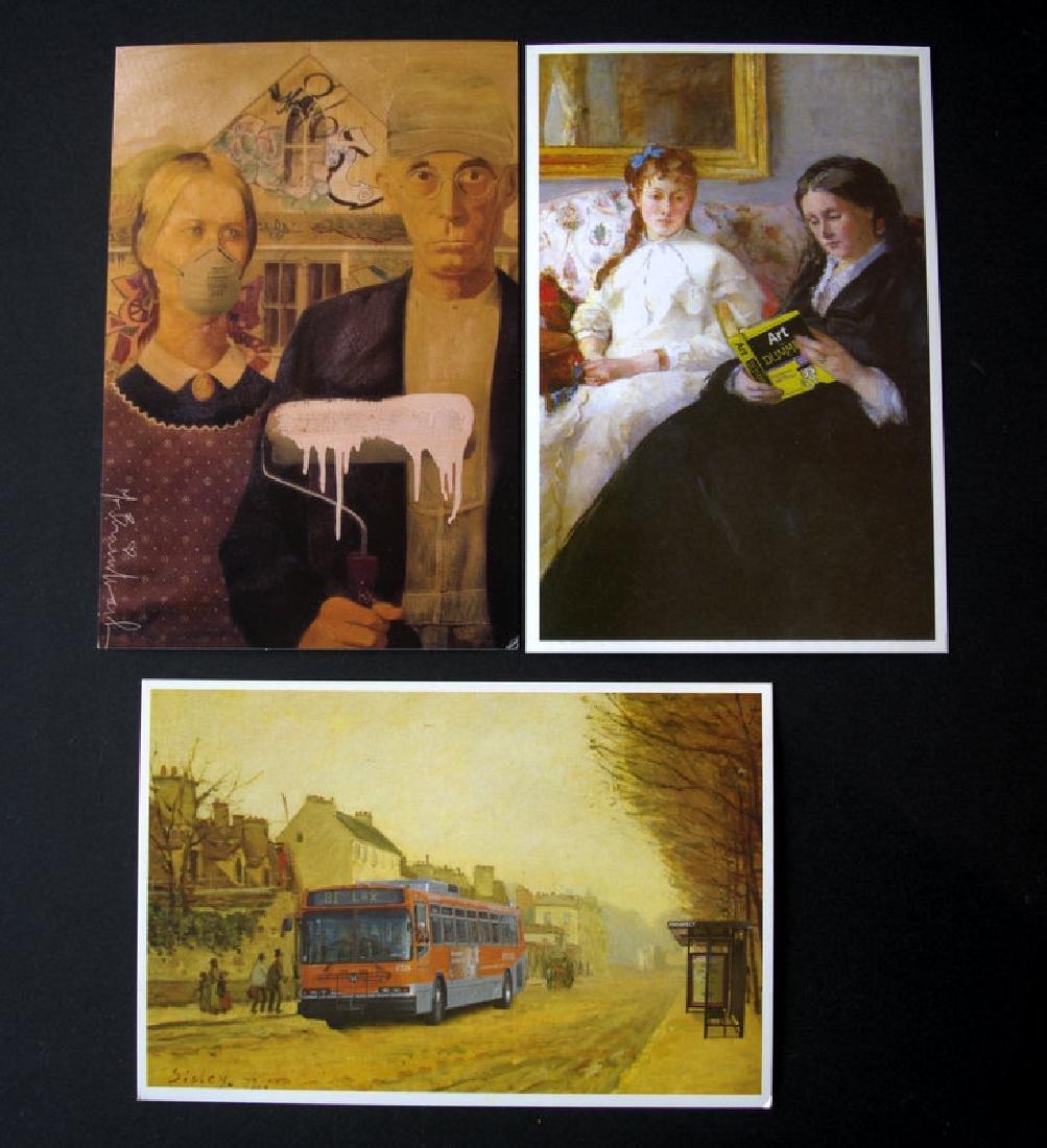 Mr. Brainwash, 3 postcards