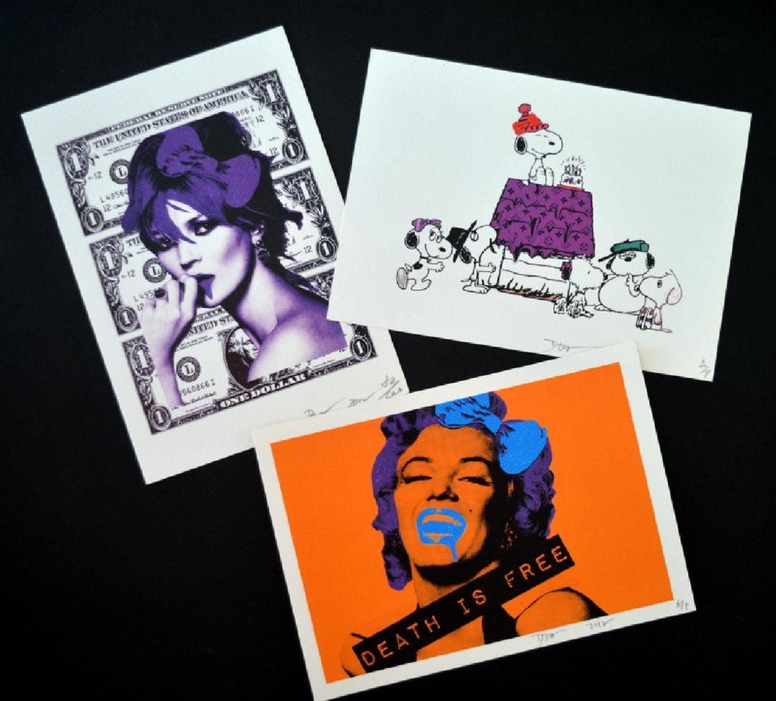 3 Death NYC Limited .Ed Signed Graffiti Painting. Pop
