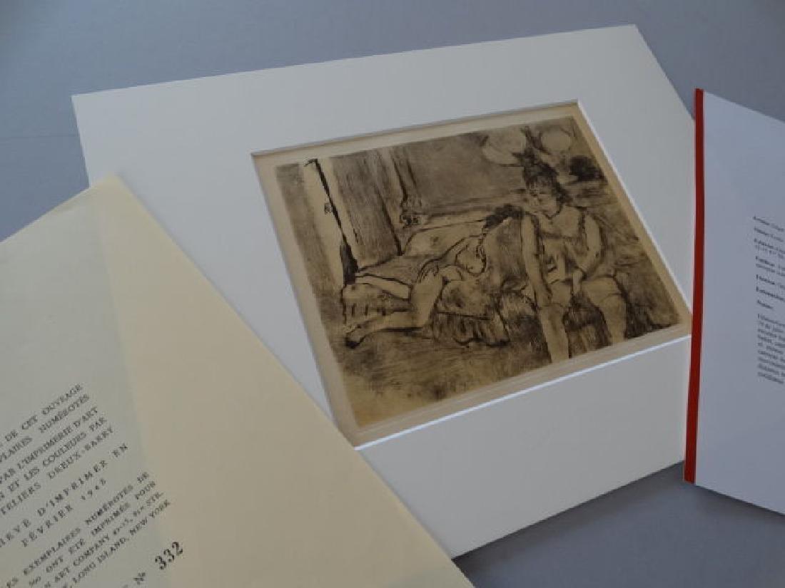 Edgar Degas - Gravure hand colored