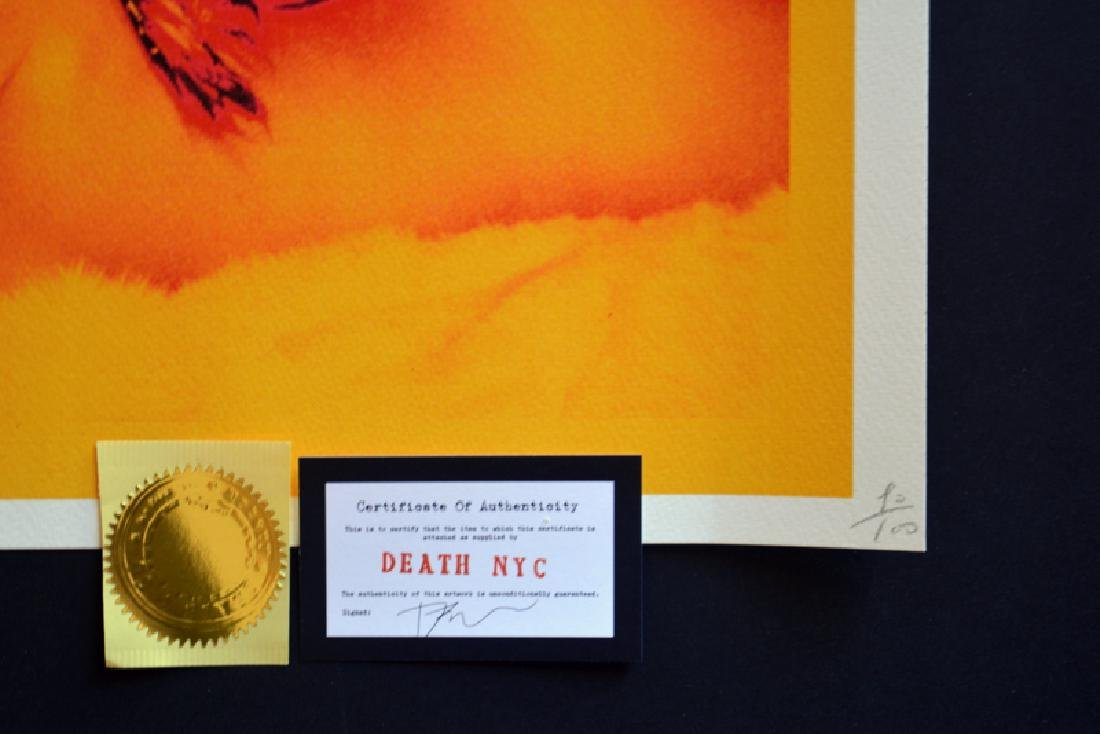Death NYC Ltd Ed 45x32cm LARGE Signed Graffiti Pop Art - 4