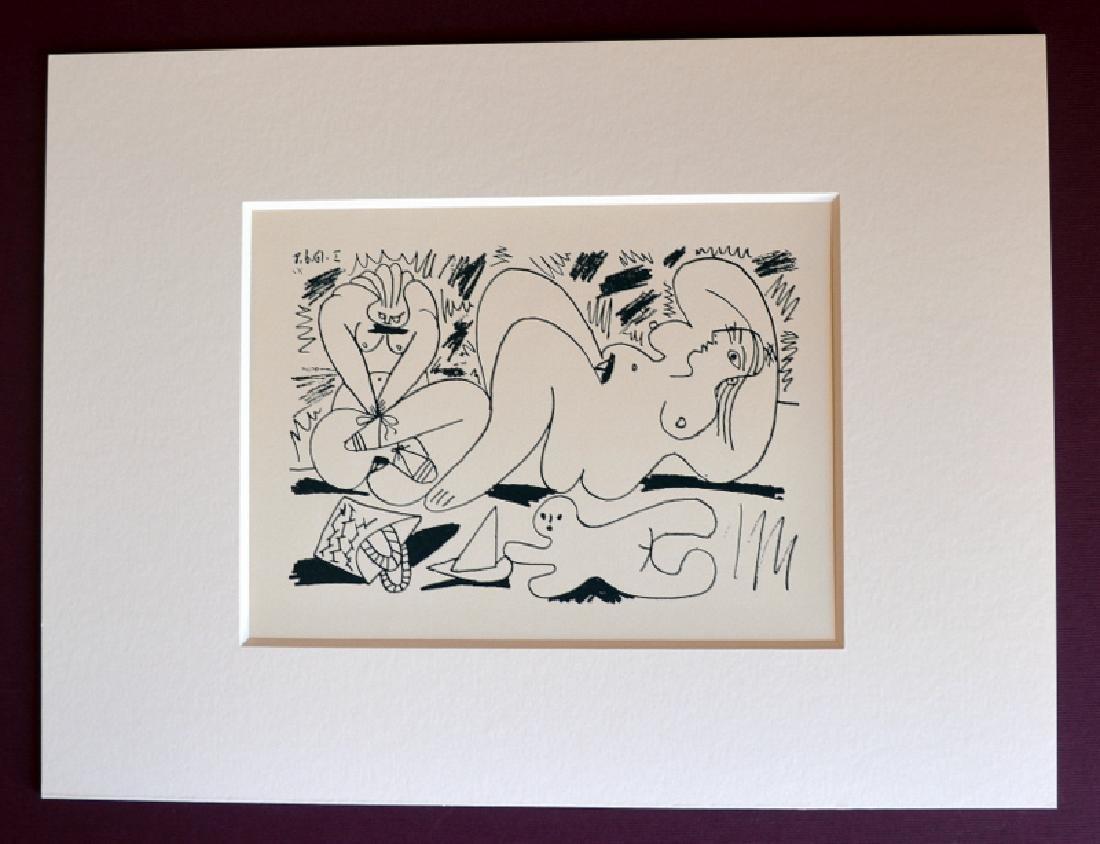 "PICASSO Lithograph Edition Madoura 1962: ""Les Dejeuners"