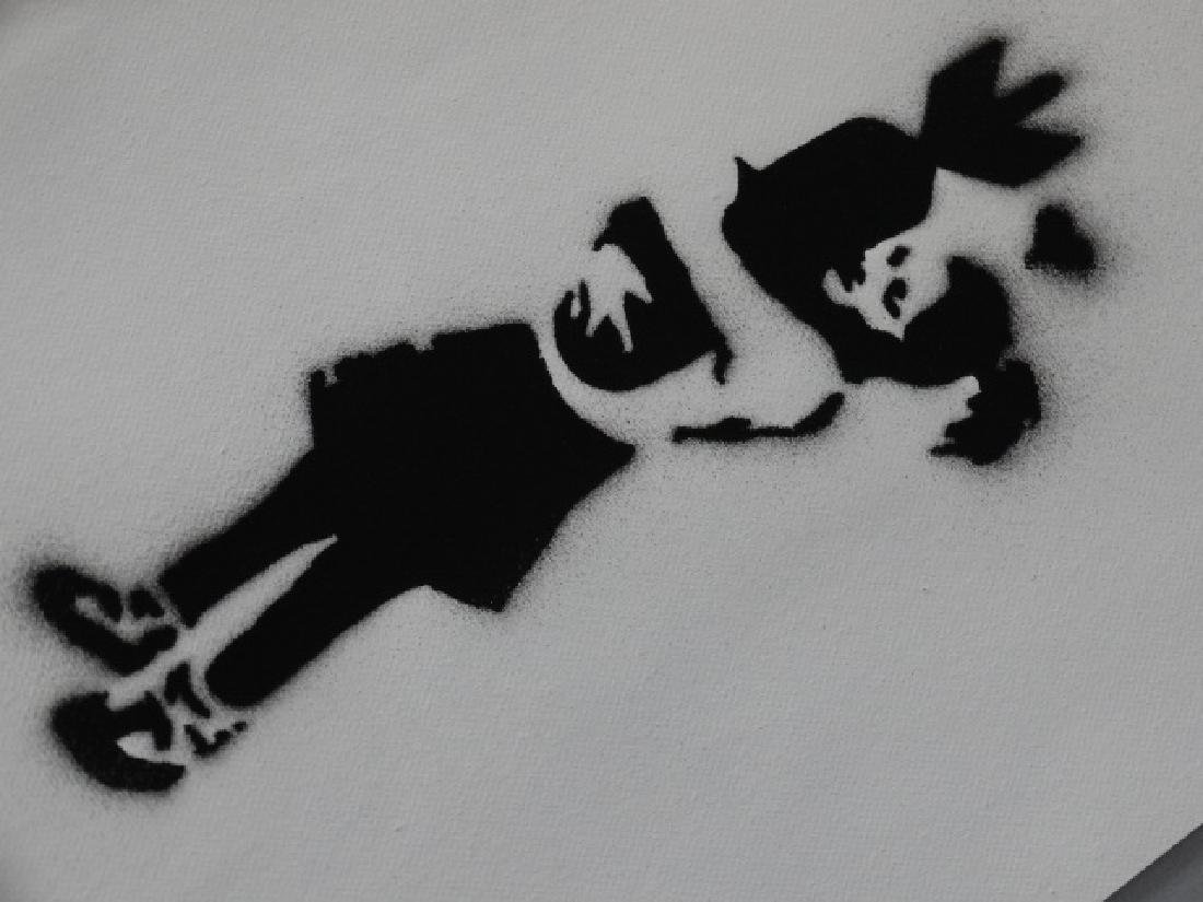 Banksy, spray graffiti art