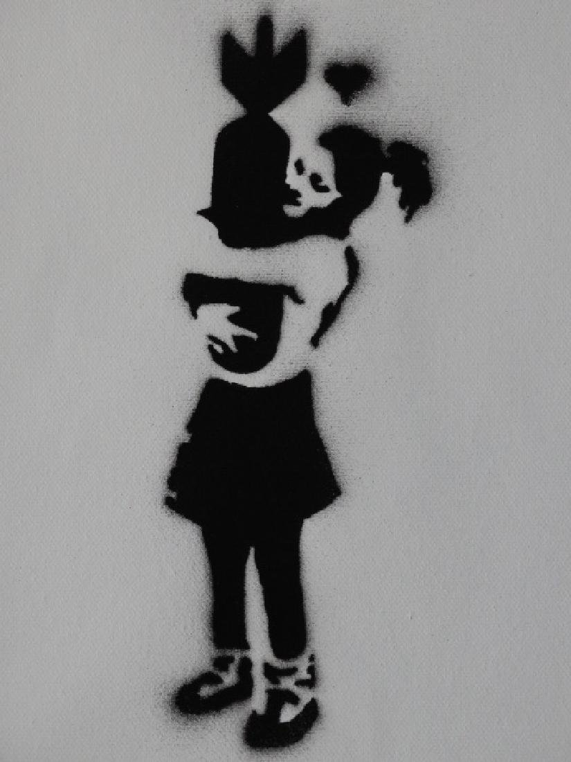 Banksy, spray graffiti art - 2