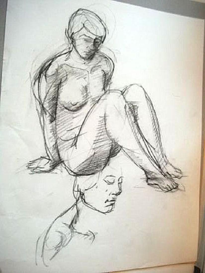 4 Drawing, around 1980/81. Carbon 44 x 68 cm.