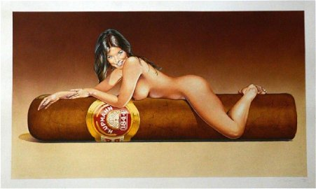 Mel Ramos Art Print Print 48x31cm Hav-a-Havana # 7 1986