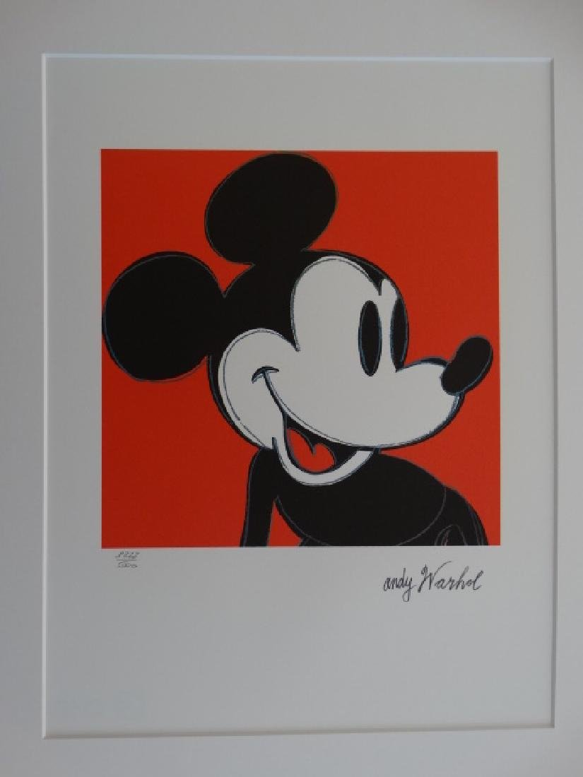 ANDY WARHOL, MICKEY MOUSE, SIGNED, NUMBERED - 2