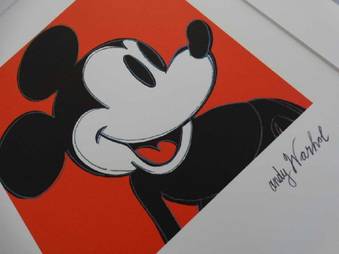 ANDY WARHOL, MICKEY MOUSE, SIGNED, NUMBERED - 3