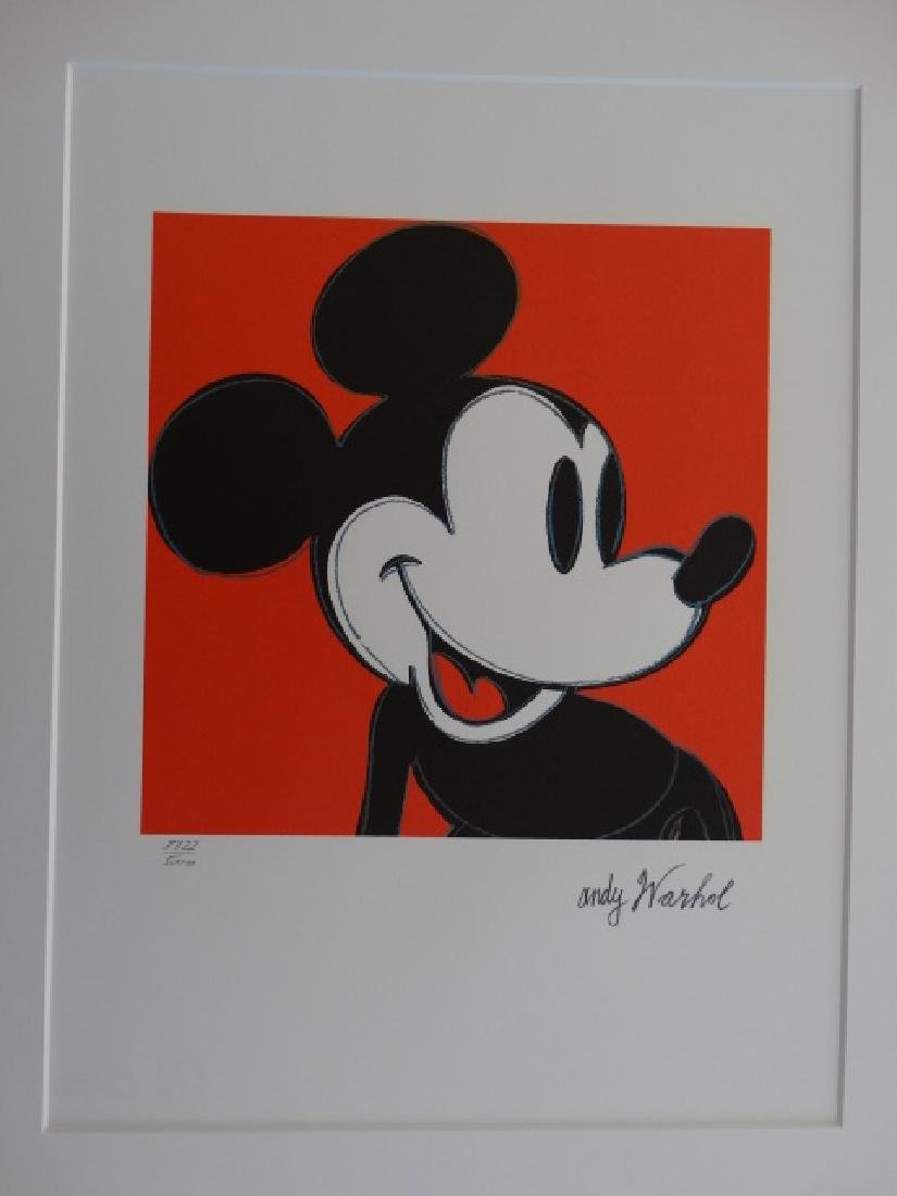 ANDY WARHOL, MICKEY MOUSE, SIGNED, NUMBERED - 5