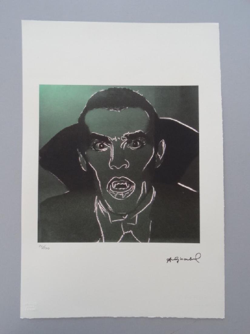 ANDY WARHOL,DRACULA, SIGNED, NUMBERED - 2