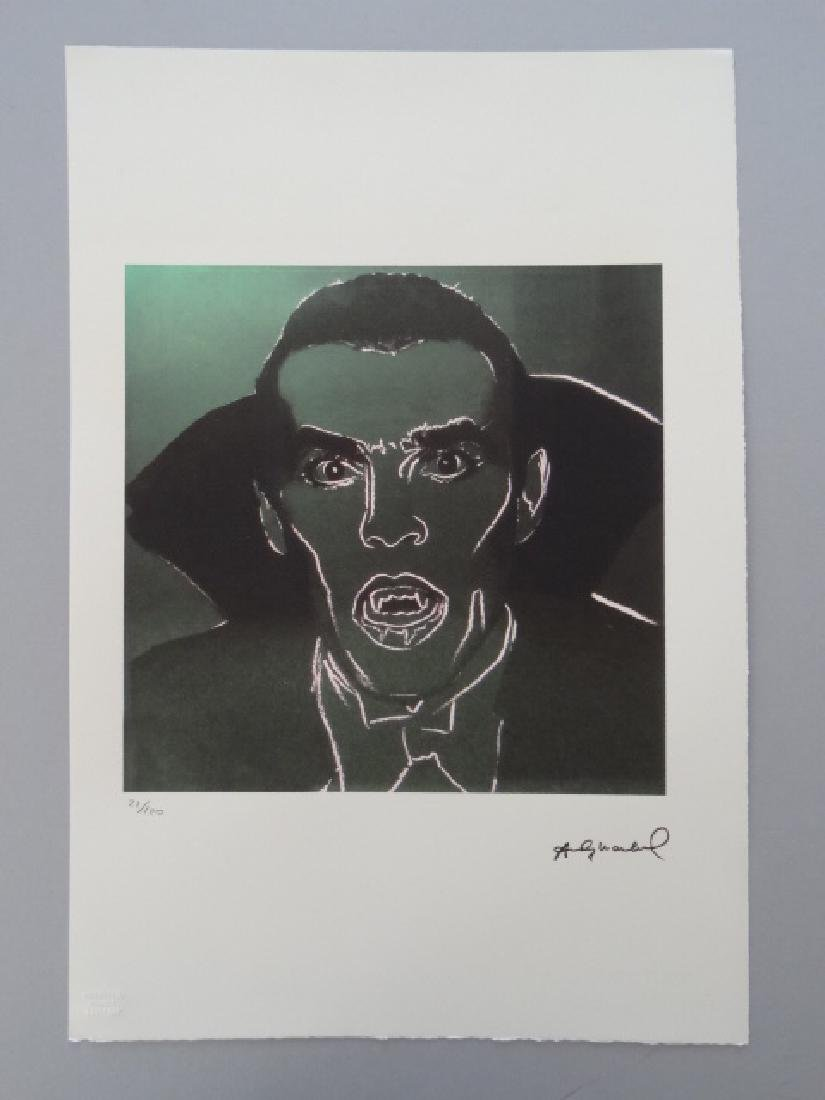 ANDY WARHOL,DRACULA, SIGNED, NUMBERED - 5