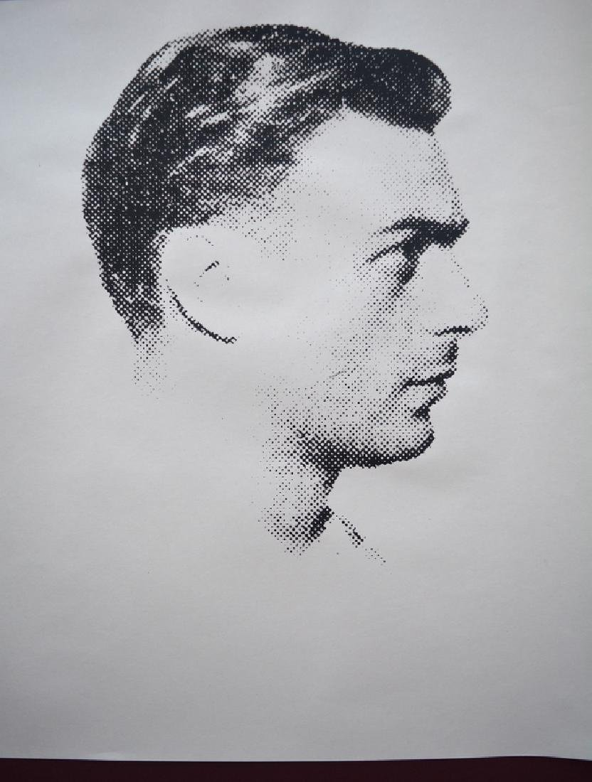 Andy Warhol most wanted men screen print - 2