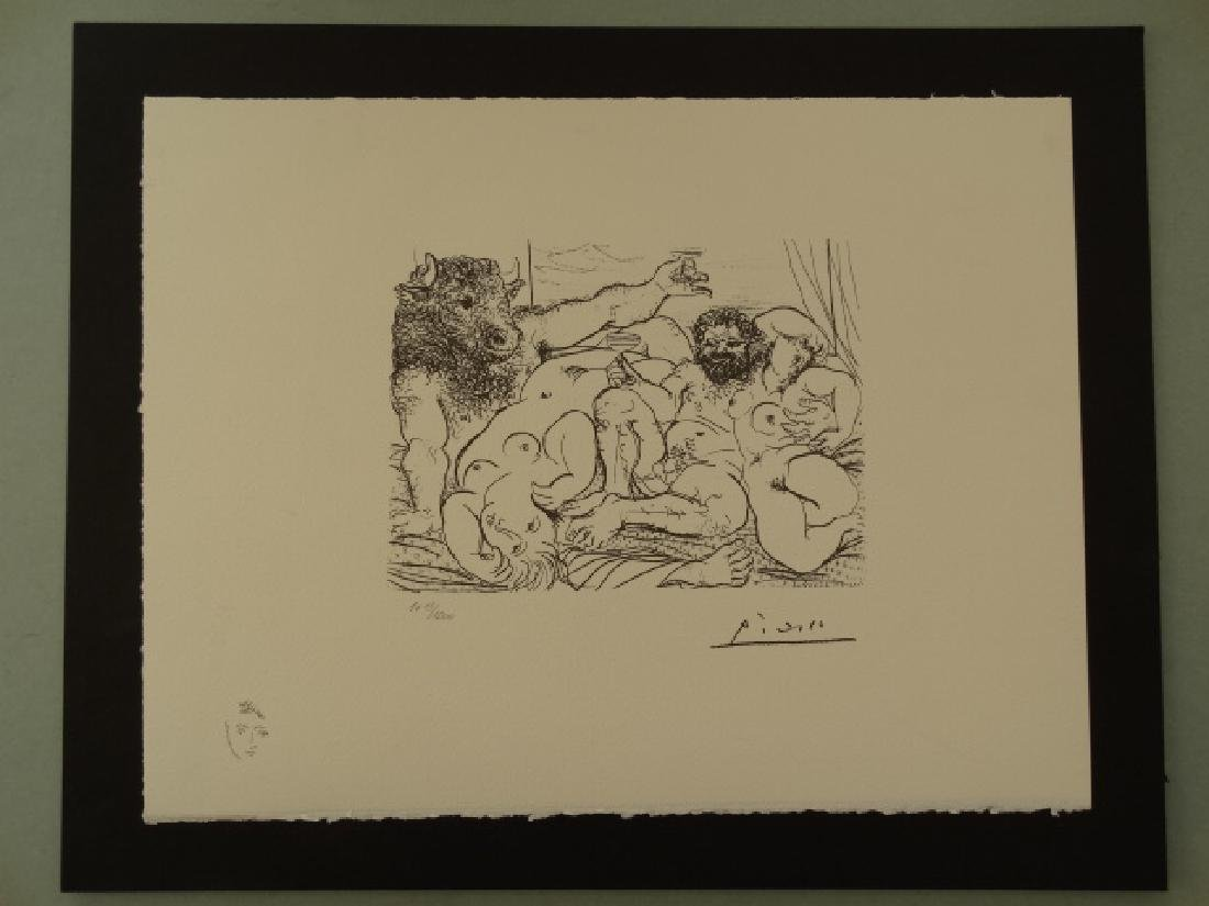 PABLO PICASSO, SPADEM, PLATE SIGNED AND HAND NUMBERED - 2