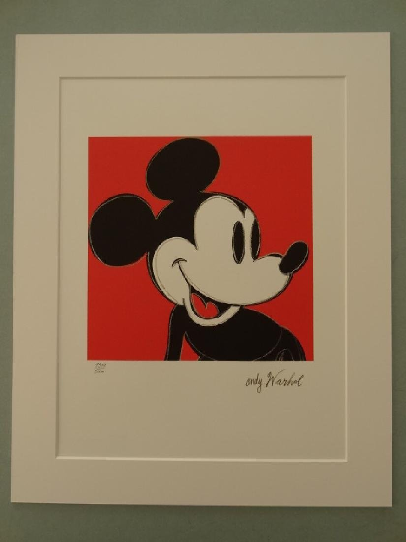 ANDY WARHOL, MICKEY MOUSE, SIGNED, NUMBERED