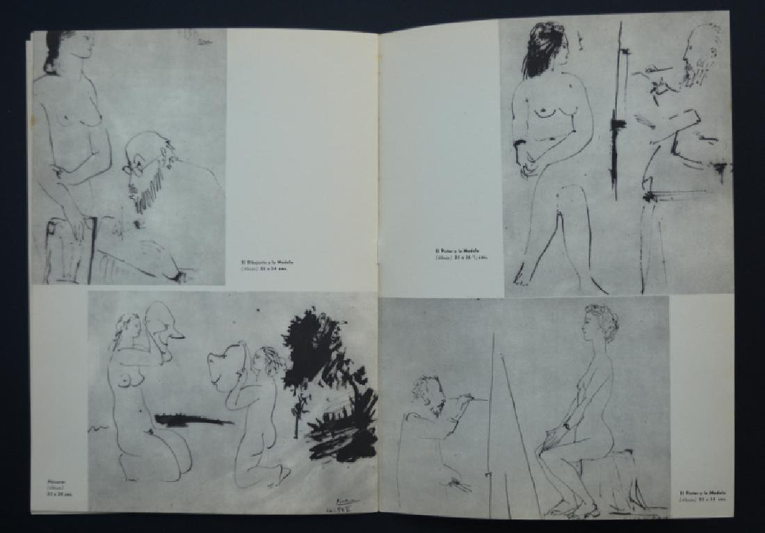 Pablo Picasso drawing attributed waxes,  year 1957 - 8