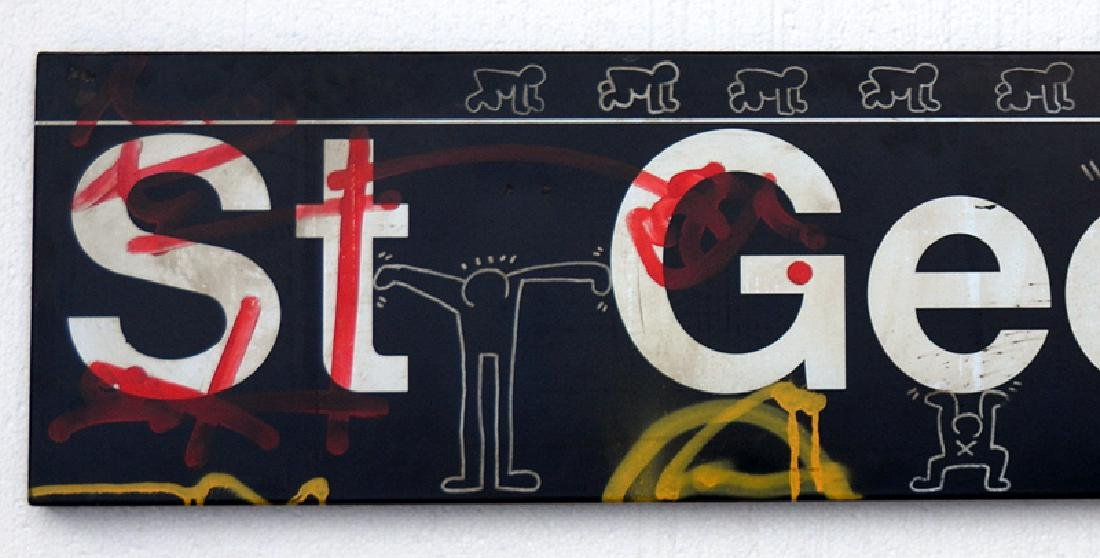 KEITH HARING DRAWING, Exclusive very big !!! 156x 36x - 3