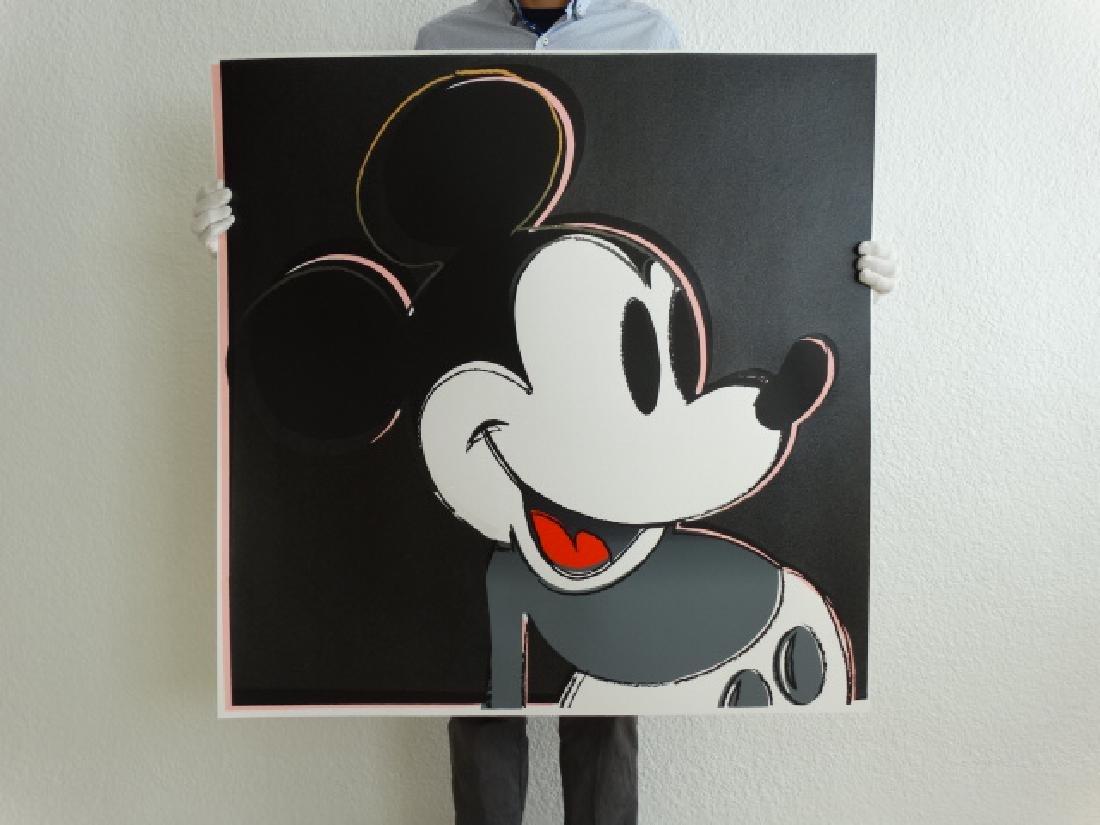 "Andy Warhol ""Mickey Mouse"" Silkscreen, diamond dust"
