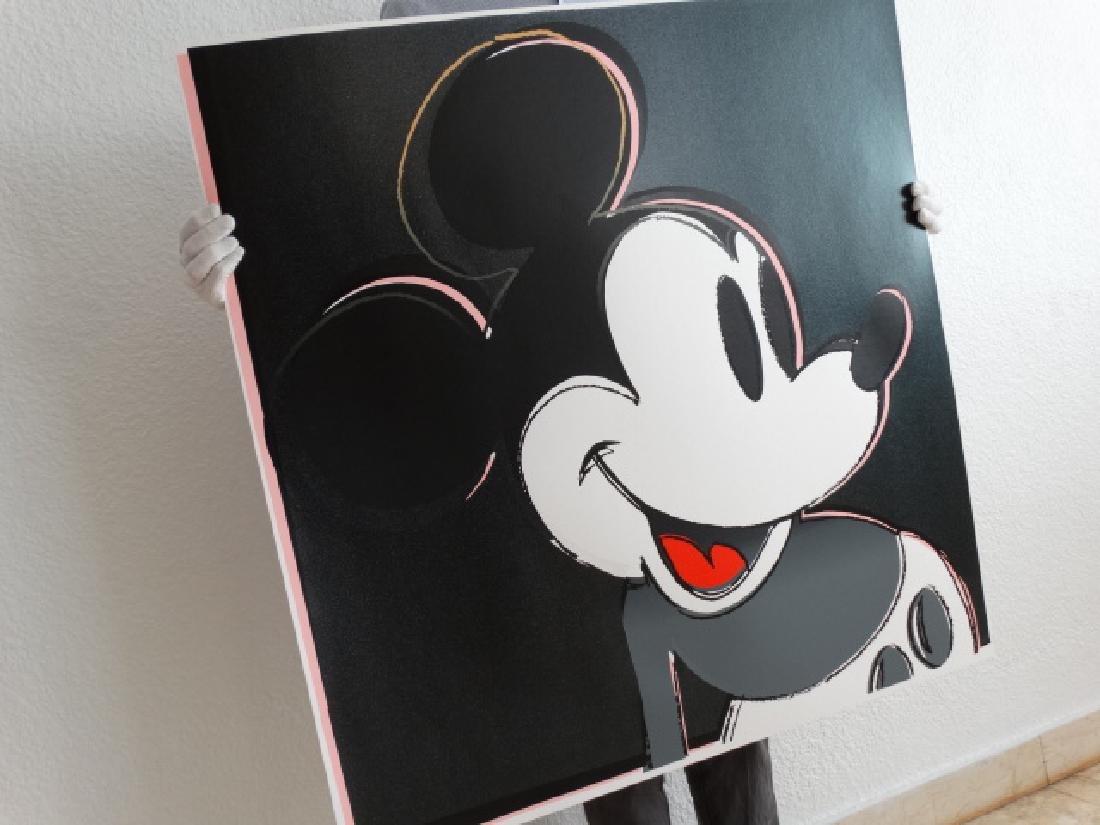 "Andy Warhol ""Mickey Mouse"" Silkscreen, diamond dust - 4"