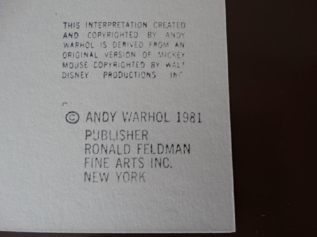 "Andy Warhol ""Mickey Mouse"" Silkscreen, diamond dust - 5"