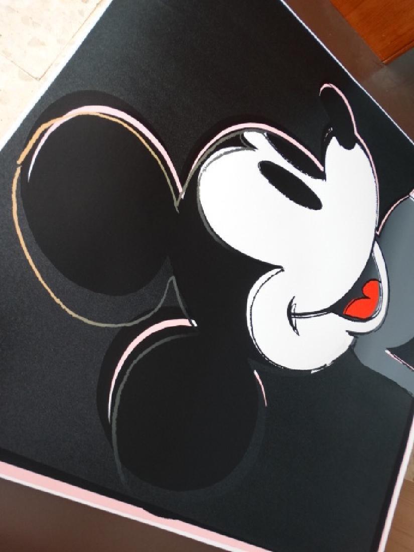 "Andy Warhol ""Mickey Mouse"" Silkscreen, diamond dust - 6"